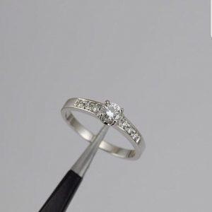 Oro blanco diamantes - 18K
