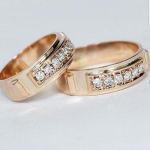 Oro rosado con diamantes - 18K
