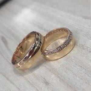 Oro rosado y diamantes - 18K